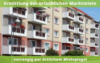 Ermittlung der ortsüblichen Marktmiete vorrangig per ortlichem Mietspiegel
